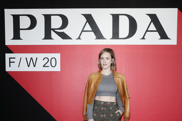 Rachel Brosnahan Prada Fall/Winter 2020/2021 Womenswear Fashion Show – Arrivals and Front Row