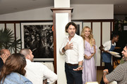 Rodger Berman and Rachel Zoe attend the Rachel Zoe Collection Summer Dinner At Moby's East Hampton With FIJI Water, Tanqueray, And AUrate on August 01, 2019 in East Hampton, New York.