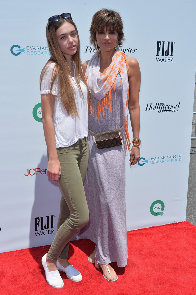 Lisa Rinna poses with daughter Delilah Hamlin at the Ovarian Cancer Research Fund's Inaugural Super Saturday LA on May 17, 2014 in Santa Monica, California.