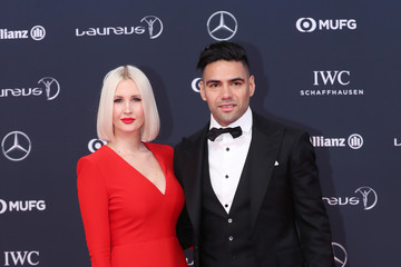 Radamel Falcao Lorelei Taron Red Carpet - 2018 Laureus World Sports Awards - Monaco