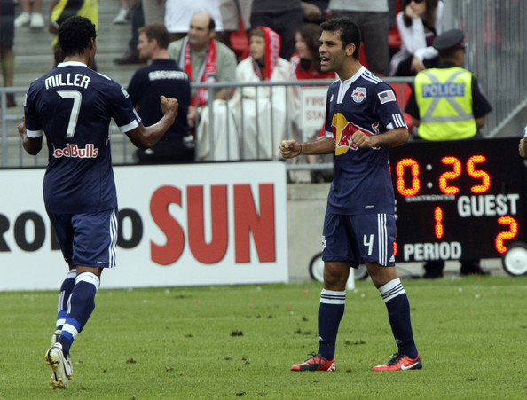 Rafael Marquez and Roy Miller - New York Red Bulls v Toronto FC