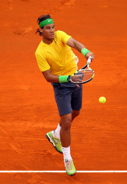 Rafael Nadal Rafael Nadal of Spain in action against Richard Gasquet of France during Day Five of the ATP Masters Series Tennis at the Monte Carlo Country Club on April 14, 2011 in Monte Carlo, Monaco.