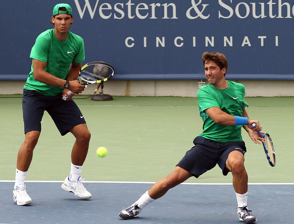 Rafael Nadal and Marc Lopez - Western & Southern Open - Day 4