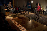 Cayman Kelly and Raheem DeVaughn on SiriusXM's Heart & Soul Channel At The SiriusXM Studios on October 25, 2018 in Washington, DC.