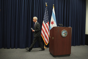 Rahm Emanuel Chicago Mayor Rahm Emmanuel Speaks to the Press After City Council Meeting