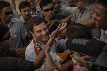 Rahul Gandhi India Elections Rally For Congress Party leader Rahul Gandhi