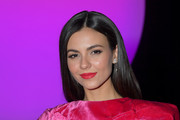 Victoria Justice attends the Raisavanessa front row during New York Fashion Week: The Shows at Gallery I at Spring Studios on February 12, 2020 in New York City.