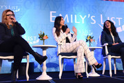 (L-R) Amber Tamblyn, Olivia Munn, and Melissa Fumero speak onstage during Raising Our Voices: Supporting More Women in Hollywood & Politics at Four Seasons Hotel Los Angeles in Beverly Hills on February 19, 2019 in Los Angeles, California.