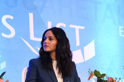 Melissa Fumero speaks onstage during Raising Our Voices: Supporting More Women in Hollywood & Politics at Four Seasons Hotel Los Angeles in Beverly Hills on February 19, 2019 in Los Angeles, California.