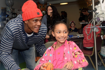 Rajon Rondo Boston Celtics Bring Holiday Spirit To Boston Children's Hospital