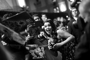 """Image has been shot in black and white. Color version not available.) Actor Auli'i Cravalho attends the World Premiere of Disney's """"RALPH BREAKS THE INTERNET"""" at the El Capitan Theatre on November 5, 2018 in Hollywood, California."""