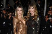 """Sistine Rose Stallone and Jennifer Flavin . attend the screening of """"Rambo - First Blood"""" during the 72nd annual Cannes Film Festival on May 24, 2019 in Cannes, France."""