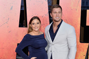 Actress Jacqueline Jossa and Daniel Osborne attend the European Premiere of 'Rampage' at Cineworld Leicester Square on April 11, 2018 in London, England.