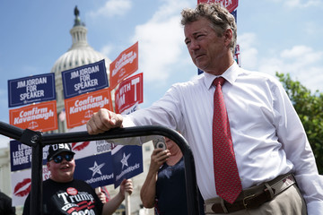 Rand Paul  Conservative Group FreedomWorks Holds Rally On Capitol Hill In Support Of Brett Kavanaugh's Confirmation To The Supreme Court