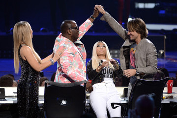 Randy Jackson Keith Urban Inside the 'American Idol' Finale at the Nokia Theatre