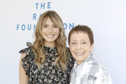 (L-R) Elizabeth Olsen and Gail Abarbanel attend the Rape Foundation Annual Brunch 2019 at Greenacres, The Private Estate of Ron Burkle on October 06, 2019 in Beverly Hills, California.