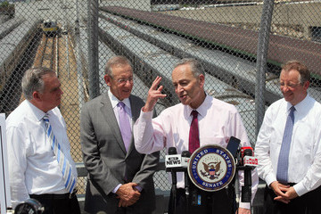 Ray LaHood Politicians Announce NYC Infrastructure Project