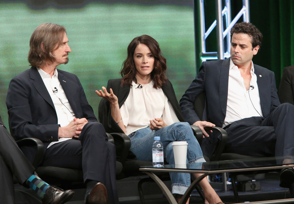 SundanceTV TCA Panel for 'Rectify' [conversation,event,interaction,human,white-collar worker,adaptation,sitting,television program,performance,interview,ray mckinnon,creator,writer,actors,l-r,portion,sundancetv tca panel for ``rectify,executive producer,sundancetv,panel discussion]