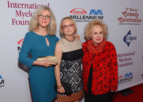 Actress Blythe Danner, IMF Board of Directors Event Chair Lorraine Boyle and actress Doris Roberts, IMF Honorary Committee, attend the International Myeloma Foundation's 6th Annual Comedy Celebration hosted by Ray Romano benefiting The Peter Boyle Research Fund at The Wilshire Ebell Theatre on October 27, 2012 in Los Angeles, California.