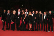 (L-R) Actors Francesco Renga, Manrico Gammarota, Nadia Rinaldi, director Alessandro Gassman and actors Madalina Ghenea, Matteo Taranto, Carolina Facchinetti, Giovanni Anzaldo, Francesco Renga and Sergio Meogrossi attend the 'Razza Bastarda' Premiere during the 7th Rome Film Festival at the Auditorium Parco Della Musica on November 17, 2012 in Rome, Italy.