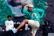 Tyler the Creator of Odd Future Wolf Gang Kill Them All (OFWGKTA) performs live on the Main Stage on Day Two during the Reading Festival 2012 at Richfield Avenue on August 25, 2012 in Reading, England.