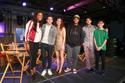 (L-R) Aisha Tyler, Tye Sheridan, Olivia Cooke, Lena Waithe, Win Morisaki and Philip Zhao attend Ready Player One LIVE at SXSW, Powered by Twitch and IMDb on March 11, 2018 in Austin, Texas.