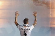 Real Madrid player Sergio Ramos walks during the Real Madrid celebration the day after winning the UEFA Champions League final at Santiago Bernabeu Stadium on May 25, 2014 in Madrid, Spain. Real Madrid CF achieves their tenth European Cup at Lisbon at Lisbon 12 years later.