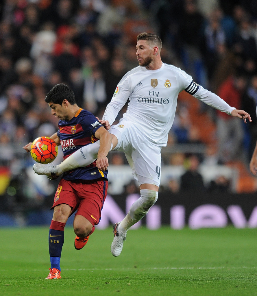 Sergio ramos in real madrid cf v fc barcelona la liga - Sergio madrid ...