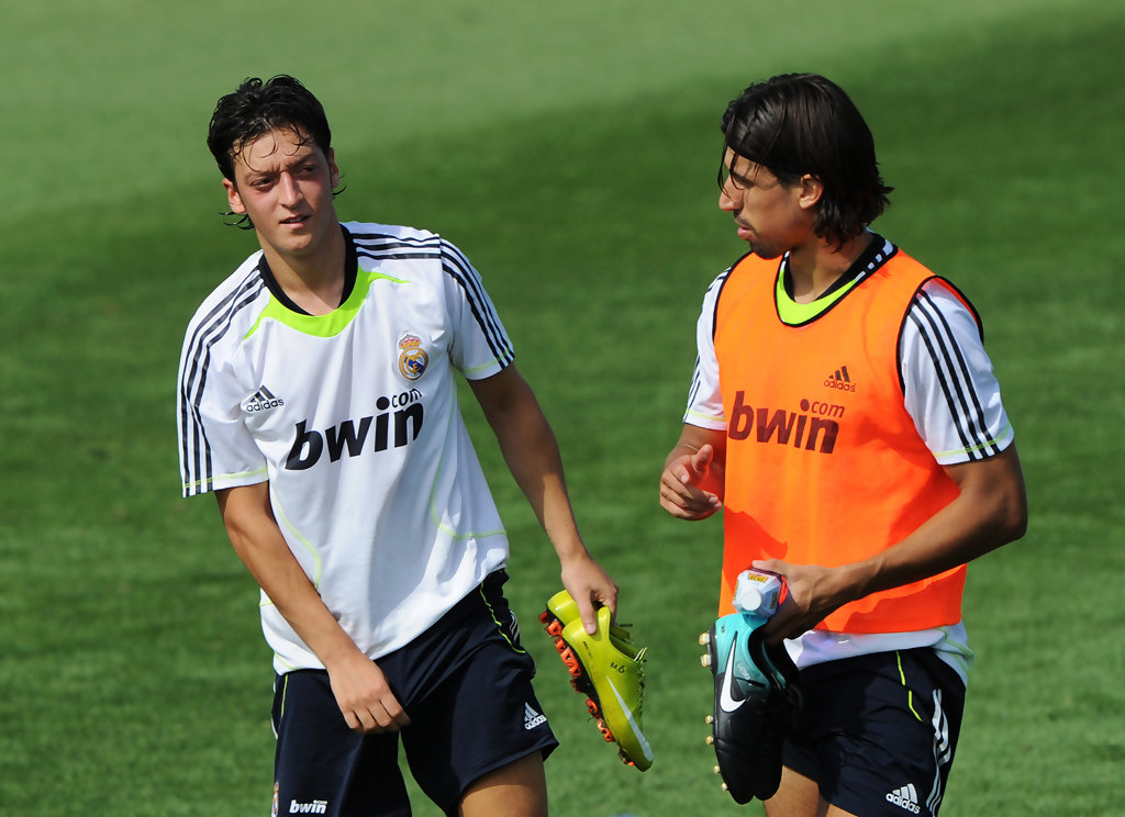 Mesut Ozil In Real Madrid Training And Press Conference
