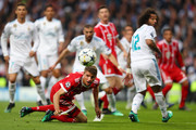 Thomas Mueller of Bayern Muenchen looks on during the UEFA Champions League Semi Final Second Leg match between Real Madrid and Bayern Muenchen at the Bernabeu on May 1, 2018 in Madrid, Spain.