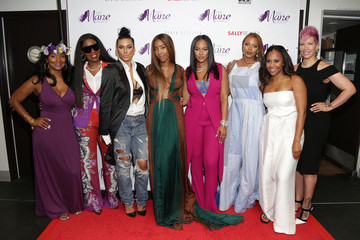 Rebecca Crews Sevyn Streeter and Courtney Adeleye of the Mane Choice Boss Up Brunch