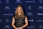 Former Boxer Regina Halmich of Germany attends the 2016 Laureus World Sports Awards at Messe Berlin on April 18, 2016 in Berlin, Germany.