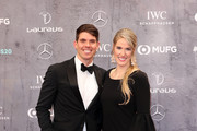 Hayes Johnson and Laureus Academy Member Missy Franklin attend the 2020 Laureus World Sports Awards at Verti Music Hall on February 17, 2020 in Berlin, Germany.