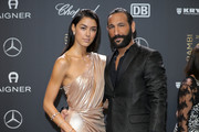 Rebecca Mir and Massimo Sinato attend the 70th Bambi Awards at Stage Theater on November 16, 2018 in Berlin, Germany.