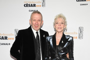 Jean-Paul Gaultier and Tonie Marshall arrive at the Cesar Film Awards 2018 at Salle Pleyel on March 2, 2018 in Paris, France.