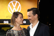 Jessica Schwarz and Florian David Fitz arrive for the 21st GQ Men of the Year Award at Komische Oper on November 07, 2019 in Berlin, Germany.