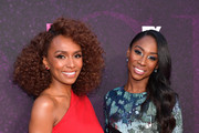 """(L-R) Janet Mock and Angelica Ross attend the red carpet event for FX's """"Pose"""" at Pacific Design Center on August 09, 2019 in West Hollywood, California."""