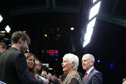 Judi Dench is interviewed at the 'Red Joan' premiere and Golden Icon Award during the 14th Zurich Film Festival at Festival Centre on October 03, 2018 in Zurich, Switzerland.