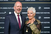 David Parfitt and Judi Dench attend the 'Red Joan' premiere and Golden Icon Award during the 14th Zurich Film Festival at Festival Centre on October 03, 2018 in Zurich, Switzerland.