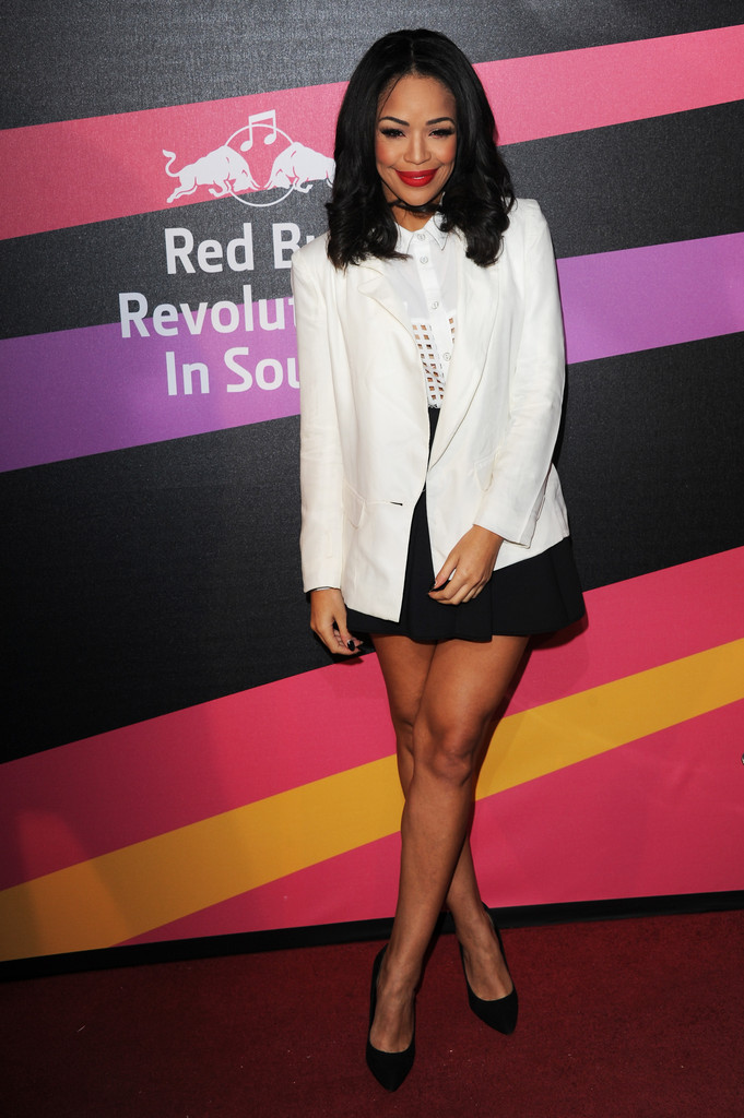Sarah-Jane Crawford  arrives at Red Bull Revolutions in Sound on the EDF Energy London Eye, a celebration of UK club culture with 30 of the most legendary club nights in 30 capsules and streamed live on www.revolutionsinsound.com on November 14, 2013 in London, England.
