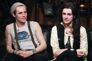 """(L-R) Reeve Carney and Zane Carney of the rock band Carney visit """"Fuse's Top 20 Countdown"""" at fuse Studios on March 17, 2011 in New York City."""