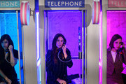(L-R) Hannah Simone, Angelique Cabral and Zoe Lister-Jones interact with The Plan B Hotline at Refinery29 Presents 29Rooms Los Angeles 2018: Expand Your Reality at The Reef on December 4, 2018 in Los Angeles, California.