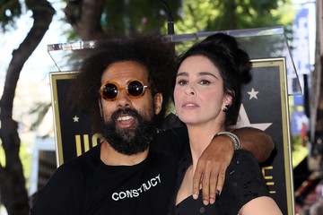 Reggie Watts Sarah Silverman Honored With Star On The Hollywood Walk Of Fame