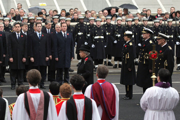 Queen Elizabeth II Princess Anne Remembrance Sunday Service Held At The Cenotaph