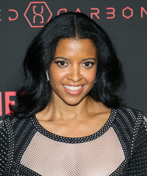 "Premiere Of Netflix's ""Altered Carbon"" - Arrivals [altered carbon,hair,beauty,eyebrow,hairstyle,fashion model,black hair,forehead,chin,long hair,lip,arrivals,renee elise goldsberry,netflix original series altered carbon,california,los angeles,netflix,premiere,world premiere]"
