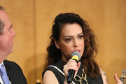 Actress Alyssa Milano speaks during a SAG-AFTRA Panel Discussion on Deepfakes at SAG-AFTRA on May 6, 2019 in Los Angeles, California.