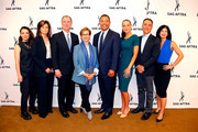 (L-R) Actress Alyssa Milano, Colleen Williams, Chairman U.S. House of Representative Intelligence Committe Adam Schiff, SAG-AFTRA President Gabrielle Carteris, SAG-AFTRA National Executive Director David White, actress Heidi Johnningmeier, Hany Farid and Mary Anne Franks attend a SAG-AFTRA Panel Discussion on Deepfakes at SAG-AFTRA on May 6, 2019 in Los Angeles, California.