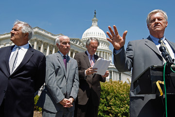 Collin Peterson Rep. Barney Frank Holds News Conference To Discuss GOP's Financial Reform Efforts