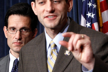 Eric Cantor Paul Ryan Reps. Cantor, Pence And Others Discuss Health Care Bill