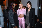 (L-R) Justine Skye, Hailey Baldwin, and Hailee Steinfeld attend Republic Records Celebrates the GRAMMY Awards in Partnership with Cadillac, Ciroc and Barclays Center at Cadillac House on January 26, 2018 in New York City.